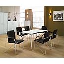 Samba set : 1 vergadertafel B 160 x 800 mm + 6 bezoekersstoelen