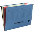 SCHÄFER SHOP Fächer-Hängemappe, für Formate bis DIN A4, Karton, blau, 5 Stück