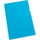 SCHÄFER SHOP L-mappen Premium kwaliteit, 120 micron, generfd, blauw, 25 stuks