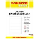 SCHÄFER SHOP Ordner-Einsteckschilder, bedruckbar, Rückenbreite 48 mm, 50 Stück
