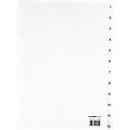 SCHÄFER SHOP PP ordner-indexbladen, A4-formaat, cijfers 1-12, wit