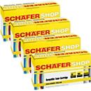 Schäfer Shop Sparpaket 4 Toner, kompatibel zu Brother TN-230 Serie cyan, magenta, gelb, schwarz