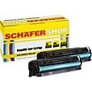 Schäfer Shop Sparset 2x Toner baugleich HP 304A (CC530A), schwarz
