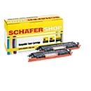 Schäfer Shop Sparset 2x Toner, kompatibel zu HP 126A (CE310A), schwarz