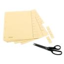 SCHÄFER SHOP Trennblätter 1-10, DIN A4-Format, blanko, 100 Stück