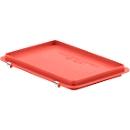 Scharnierdeksel EF-D 32 S voor Euronorm bakken, rood
