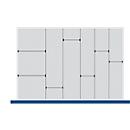 Scheidings-/insteekwand assortiment, 5 scheidingswanden, 7 insteekwanden, voor serie Verso, voor fronthoogte schuiflade 100/125 mm, H 77 mm