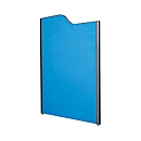 Scheidingswand, 1800 x 850 mm, antraciet/donkerblauw