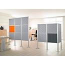 Scheidingswand Silent Office, 2 elementen, H 1470 mm, lichtgrijs