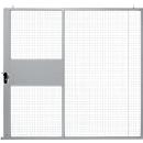 Schiebetür, für Gittertrennwandsystem, B 2238 x H 2110 mm, hellsilber