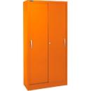 Schiebetürenschrank, 5 Ordnerhöhen, B 1200 mm, orange RAL 2004