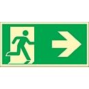 Schild Rettungsweg, rechtsweisend, HLF