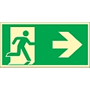 Schild Rettungsweg, rechtsweisend, HLK