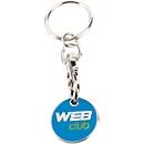 Schlüsselanhänger Coin mit Einkaufswagenchip ,inkl. einfarbige Werbeanbringung