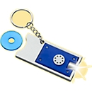 Schlüsselanhänger Spotlight, mit herausnehmbarem Einkaufswagenchip, blau