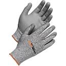Schnittschutzhandschuhe Worksafe Cut 5-108, Schnittfestigkeit 5, EN388, HPPE/PU, nahtlos, Größe 9, 6 Paar