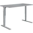 Schreibtisch Elements, elektrisch höhenverstellbar, B 1600 mm, C-Fuß, silber
