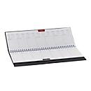 Schreibtisch-Querkalender Sidney, 128 Seiten, Wire-O-Bindung, B 300 x H 140 mm, Werbedruck 250 x 15 mm, anthrazit