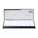 Schreibtisch-Querkalender Tucson, 120 Seiten, Wire-O-Bindung, B 300 x T 15 x H 140 mm, Werbedruck 250 x 15 mm, rotbraun