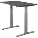 Schreibtisch SET UP, T-Fuß-Gestell, 1200x800, elektrisch höhenverstellbar, graphit