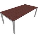 Schreibtisch SOLUS, 4-Fuß, Rechteck, B 1600 x T 800 x H 720-820 mm, Ahorn-Brazil