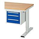 Schubladenblock, 3 Schubladen, für Arbeitstische Serie adlatus 300, Tragkraft 35 kg