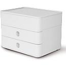 Schubladenbox HAN Allison Smart-Box Plus, 2 Schübe mit Trennwänden, Utensilienbox, stapelb., ABS-Kunststoff, weiß