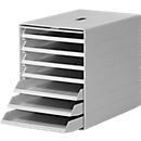 Schubladenbox Idealbox Plus, 7 Schübe, DIN C4, Kunststoff, grau