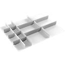 Schubladeneinsatz Treston, 3 Unterteiler & 10 Mittelplatten, B 900 mm, für Serie 90 mit H 750 mm