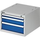 Schubladenkasten zur TOP-Werkbank, Block 1, lichtgrau/blau