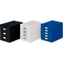 Schubladenschrank DIN A4, mit 15 Schubladen, 940 mm hoch, enzianblau