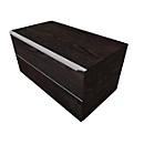 Schubladenschrank QUANDOS BOX, 1 Schub, B 800 x T 440 x H 374 mm, Mooreiche