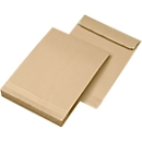 Seitenfaltentaschen, 40 mm, haftklebend, DIN C4, 130 g/m², 100 Stück, natronbraun