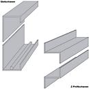 Selbstklebende Skalenleisten, 250 mm breit, für ORGATEX-Tafeln, 2 Stück