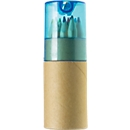 SET Buntstifte, 12 Stück, blau/transparent