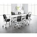 SET Konferenztisch weiß + 6 Konferenzstühle weiß