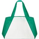 Shopper BIG-ONE, Non-Woven Vliesgewebe, lange Schultergurte, mit Boden- & Seitenfalte, weiß/grün