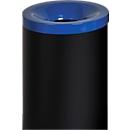 Sicherheitsabfallbehälter Grisu Color, 90L, schwarz/blau