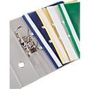 Sichthefter  mit Abheftung, DIN A4, Polypropylen, 25 Stück, weiß
