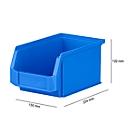 Sichtlagerkasten SSI Schäfer LF 221, Polypropylen, L 234 x B 150 x H 122 mm, 2,7 l, blau