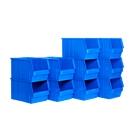 Sichtlagerkasten TF 14/7-3, Kunststoff, 10 l, 10 Stück