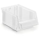 Sichtlagerkasten Treston Serie 1015, Polystyrol, L 165 x B 105 x H 75 mm, 0,6  L, transparent
