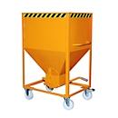 Silocontainer type SR 600, wielen, inhoud 600 liter, oranje RAL 2000