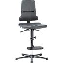 Sintec ESD-werkstoel met opstaphulp, met glijders (zonder bekleding)