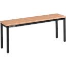 Sitzbank, für Umkleideräume, L 995 mm, schwarz