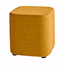 Sitzhocker TAPA Square O Type, Schurwolle, B 450 x T 450 x H 470 mm, orange