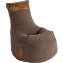 Sitzsack JAMIE Swing, Canvasoptik/Lederimitat, B 650 x T 900 x H 950 mm, braun