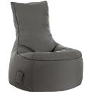 Sitzsack swing scuba®, 100% Polyester, abwaschbar, B 650 x T 900 x H 950 mm, anthrazit