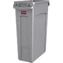 Slim Jim® afvalbak, 87 liter, grijs