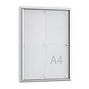 Softline-Flachschaukasten MSK4, rahmenlose Tür, 4 x DIN A4